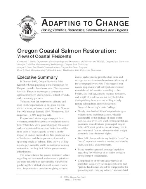 This archived document is maintained by the Oregon State Library as part of the Oregon Documents Depository Program.  It is for informational purposes and may not be suitable for legal purposes., Includes bibliographical references (p. 15-[16]), Mode of access: Internet from the Oregon Government Publications Collection.