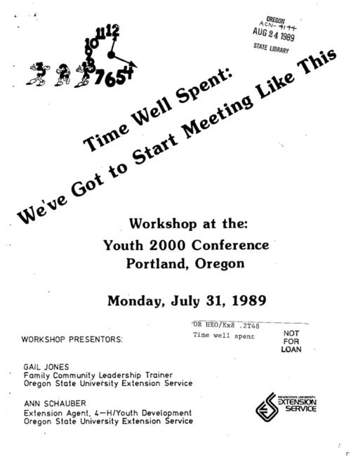 "This archived document is maintained by the Oregon State Library as part of the Oregon Documents Depository Program.  It is for informational purposes and may not be suitable for legal purposes., ""Workshop presenters: Gail Jones, Ann Schauber."", Title from cover, Includes bibliographical references, Mode of access: Internet from the Oregon Government Publications Collection."