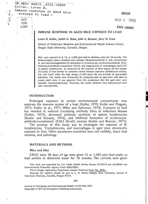 This archived document is maintained by the Oregon State Library as part of the Oregon Documents Depository Program.  It is for informational purposes and may not be suitable for legal purposes., Bibliography: p. 542-543, Mode of access: Internet from the Oregon Government Publications Collection.