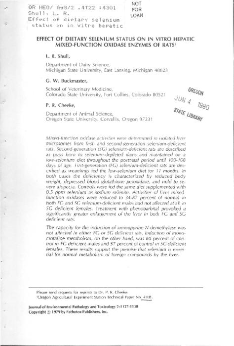 This archived document is maintained by the Oregon State Library as part of the Oregon Documents Depository Program.  It is for informational purposes and may not be suitable for legal purposes., Includes bibliographical references (p. 1137-1138), Mode of access: Internet from the Oregon Government Publications Collection.