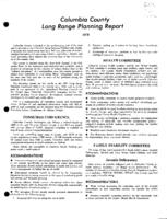 Columbia County long range planning report, 1970