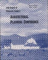 1956 report of Tillamook County's agricultural planning conference, Report of...
