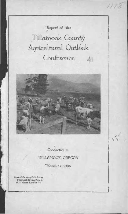 This archived document is maintained by the Oregon State Library as part of the Oregon Documents Depository Program.  It is for informational purposes and may not be suitable for legal purposes., Cover title., Planned and conducted in cooperation with the Extension Service of the Oregon State Agricultural College., Mode of access: Internet from the Oregon Government Publications Collection.