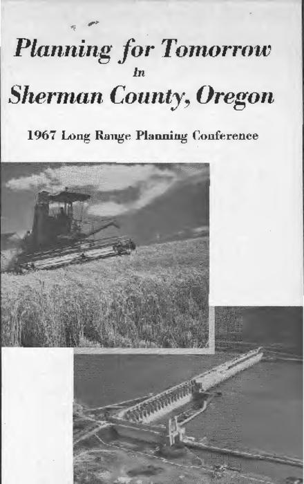 "This archived document is maintained by the Oregon State Library as part of the Oregon Documents Depository Program.  It is for informational purposes and may not be suitable for legal purposes., Cover title., ""Results of the latest planning effort are contained in this publication made possible by the Sherman County Court and the Extension Service of Oregon State University.""--Page [3]., Includes bibliographical references., Mode of access: Internet from the Oregon Government Publications Collection."