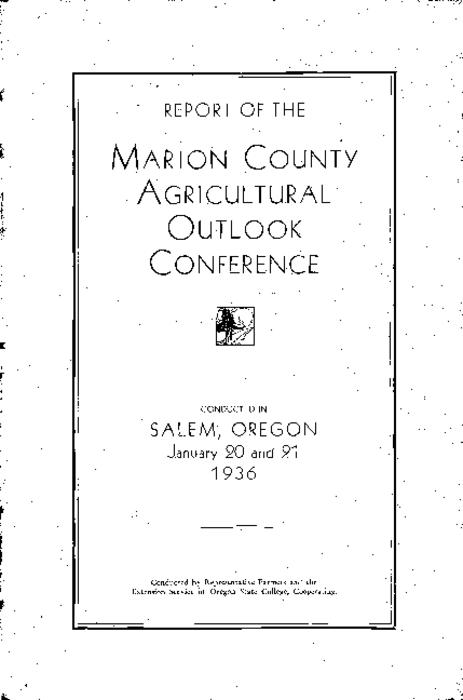 "This archived document is maintained by the Oregon State Library as part of the Oregon Documents Depository Program.  It is for informational purposes and may not be suitable for legal purposes., Cover title., ""Conducted by representative farmers and the Extension Service of Oregon State College, Cooperating."", Mode of access: Internet from the Oregon Government Publications Collection."
