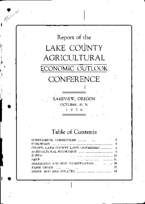 This archived document is maintained by the Oregon State Library as part of the Oregon Documents Depository Program.  It is for informational purposes and may not be suitable for legal purposes., O.S.C Extension Service cooperating, Published through the cooperation of the county court and business groups, Mode of access: Internet from the Oregon Government Publications Collection.