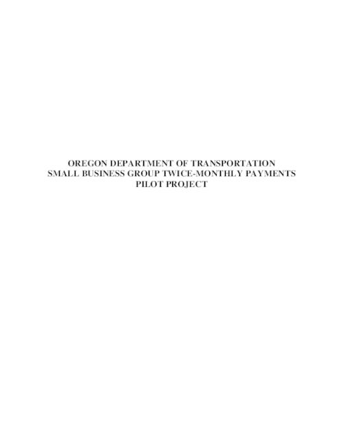"This archived document is maintained by the Oregon State Library as part of the Oregon Documents Depository Program.  It is for informational purposes and may not be suitable for legal purposes., Title from PDF title page (viewed on April 11, 2014), ""FHWA-OR-RD-09-01""--Technical report documentation page, Sponsored by Oregon Department of Transportation, Research Unit; Federal Highway Administration, Mode of access: Internet from the Oregon Government Publications Collection., Summary report"