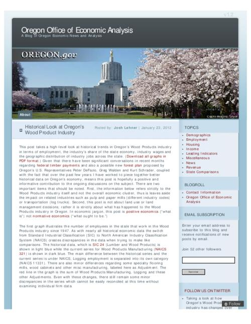 "This archived document is maintained by the Oregon State Library as part of the Oregon Documents Depository Program.  It is for informational purposes and may not be suitable for legal purposes., Title from PDF caption (viewed on Feb. 15, 2012), Converted from HTML, ""January 23, 2012."", Mode of access: Internet from the Oregon Government Publications Collection."