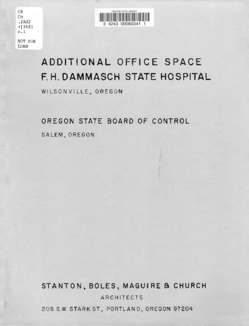 "This archived document is maintained by the Oregon State Library as part of the Oregon Documents Depository Program.  It is for informational purposes and may not be suitable for legal purposes., ""August 1, 1966."", Mode of access: Internet from the Oregon Government Publications Collection."