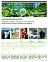 2009-2015 strategic plan, Strategic plan, Oregon Department of Geology and Mineral...