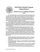 ... Plant Health Program annual report, Market Access & Certification Program...