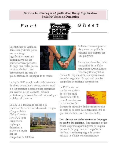 This archived document is maintained by the Oregon State Library as part of the Oregon Documents Depository Program.  It is for informational purposes and may not be suitable for legal purposes., Title from PDF caption (viewed on Sept. 6, 2006), Mode of access: Internet from the Oregon Government Publications Collection., Text in Spanish
