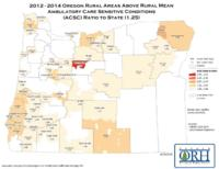 2012-2014 Oregon rural areas above rural mean ambulatory care sensitive conditions...