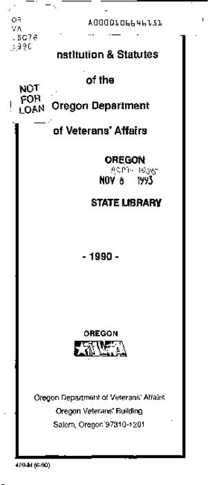 "This archived document is maintained by the Oregon State Library as part of the Oregon Documents Depository Program.  It is for informational purposes and may not be suitable for legal purposes., ""(6-90)."", Includes index, Title from cover, Mode of access: Internet from the Oregon Government Publications Collection."