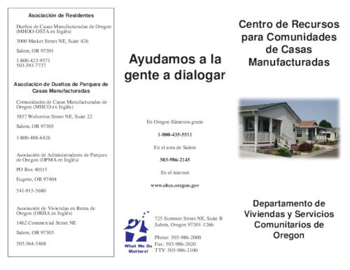 This archived document is maintained by the Oregon State Library as part of the Oregon Documents Depository Program.  It is for informational purposes and may not be suitable for legal purposes., Title from PDF caption (viewed on Aug. 16, 2010), Mode of access: Internet from the Oregon Government Publications Collection., Text in Spanish