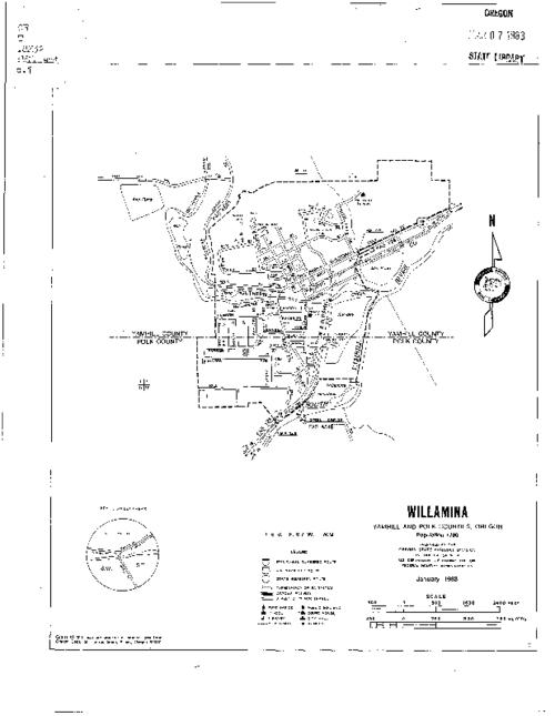 "This archived document is maintained by the Oregon State Library as part of the Oregon Documents Depository Program.  It is for informational purposes and may not be suitable for legal purposes., ""Highway mapping road inventory."", Includes key to street grid, Mode of access: Internet from the Oregon Government Publications Collection., Text in English."