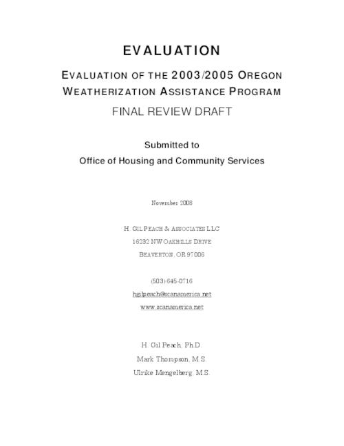 This archived document is maintained by the Oregon State Library as part of the Oregon Documents Depository Program.  It is for informational purposes and may not be suitable for legal purposes., Title from PDF cover (viewed on January 15, 2014), Includes bibliographical references, Mode of access: Internet from the Oregon Government Publications Collection., Text in English