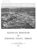 Aggregate resources of Josephine County, Oregon