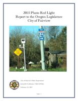 ... photo red light report to the Oregon Legislature, City of Fairview