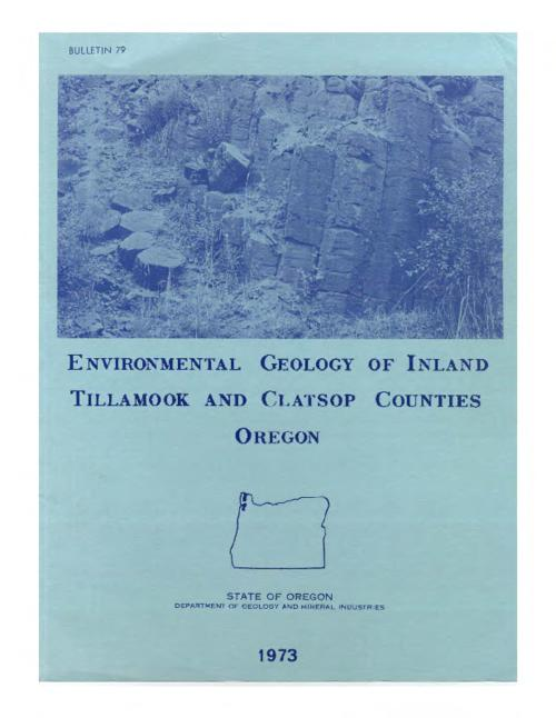 This archived document is maintained by the Oregon State Library as part of the Oregon Documents Depository Program.  It is for informational purposes and may not be suitable for legal purposes., Accompanied by 14 colored geologic and hazard maps of the Birkenfeld, Blaine, Cathlamet, Enright, Grand Ronde, Timber, Saddle Mountain and Svensen quadrangles, issued in separate folder, Bibliography: p. 64-65, Mode of access: Internet from the Oregon Government Publications Collection.