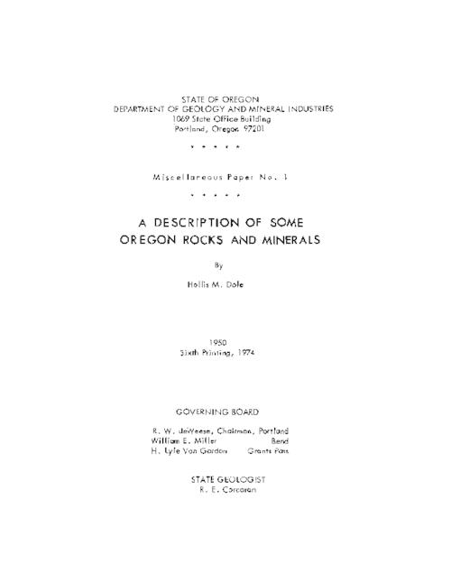 This archived document is maintained by the Oregon State Library as part of the Oregon Documents Depository Program.  It is for informational purposes and may not be suitable for legal purposes., Title from PDF cover (viewed on April 27, 2016)., Includes index., Originally issued 1950; 6th printing., Includes bibliographical references (page 37-38)., Mode of access: Internet from the Oregon Government Publications Collection., Text in English.