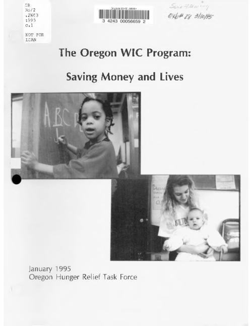 "This archived document is maintained by the Oregon State Library as part of the Oregon Documents Depository Program.  It is for informational purposes and may not be suitable for legal purposes., Title from cover, ""January 1995."", Includes bibliographical references (inside back cover), Mode of access: Internet from the Oregon Government Publications Collection."