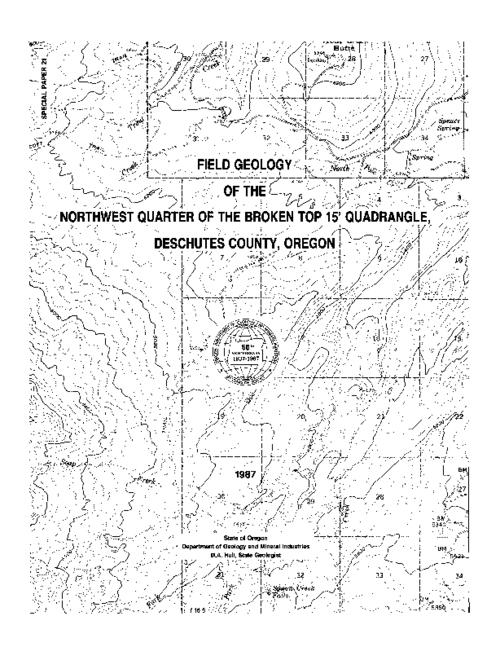 This archived document is maintained by the Oregon State Library as part of the Oregon Documents Depository Program.  It is for informational purposes and may not be suitable for legal purposes., Map in pocket, Bibliography: p. 13-14, Funded by U.S. Department of Energy. DE-FG07-84 ID 12526, Mode of access: Internet from the Oregon Government Publications Collection.
