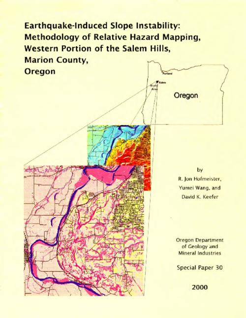 "This archived document is maintained by the Oregon State Library as part of the Oregon Documents Depository Program.  It is for informational purposes and may not be suitable for legal purposes., ""This report contains the detailed description of a study conducted in the Salem Hills, Oregon. The study resulted in the publication of Interpretive map series map IMS 17. The method ... was also applied to a study of the eastern portion of the Eola Hills in Salem, which produced Interpretive map series map IMS-18""--P. 2 of cover, Includes bibliographical references (p. 26-27, 31), Mode of access: Internet from the Oregon Government Publications Collection."