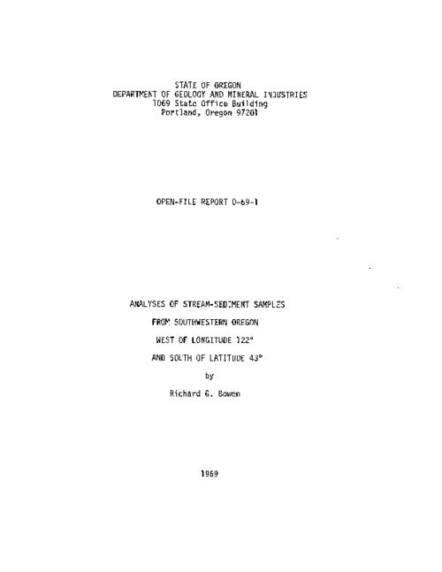 "This archived document is maintained by the Oregon State Library as part of the Oregon Documents Depository Program.  It is for informational purposes and may not be suitable for legal purposes., ""Release date - June 20, 1969""--p. ii, Chiefly tables, Mode of access: Internet from the Oregon Government Publications Collection."