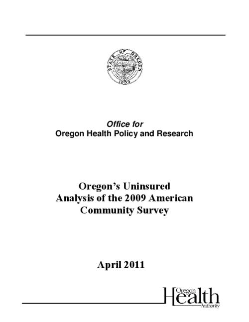 "This archived document is maintained by the Oregon State Library as part of the Oregon Documents Depository Program.  It is for informational purposes and may not be suitable for legal purposes., Title from PDF caption (viewed on May 22, 2012), ""April 2011""--Cover, Includes bibliographical references, Mode of access: Internet from the Oregon Government Publications Collection."