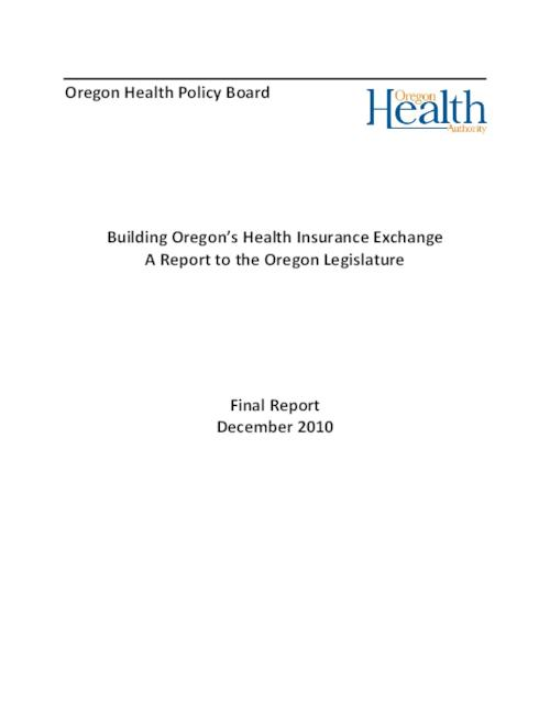"This archived document is maintained by the Oregon State Library as part of the Oregon Documents Depository Program.  It is for informational purposes and may not be suitable for legal purposes., Title from PDF caption (viewed on Nov. 21, 2011), ""Final report, December 2010."", Includes bibliographical references, Mode of access: Internet from the Oregon Government Publications Collection."