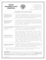 Government ethics laws overview
