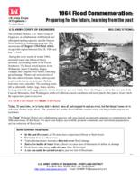 1964 flood commemoration : preparing for the future, learning from the past