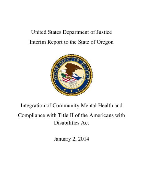 This archived document is maintained by the Oregon State Library as part of the Oregon Documents Depository Program.  It is for informational purposes and may not be suitable for legal purposes., Title from PDF cover (viewed on April 4, 2014), Includes bibliographical references, Mode of access: Internet from the Oregon Government Publications Collection., Text in English