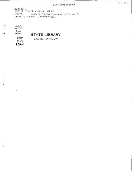 Certification Problem Oregon State Library
