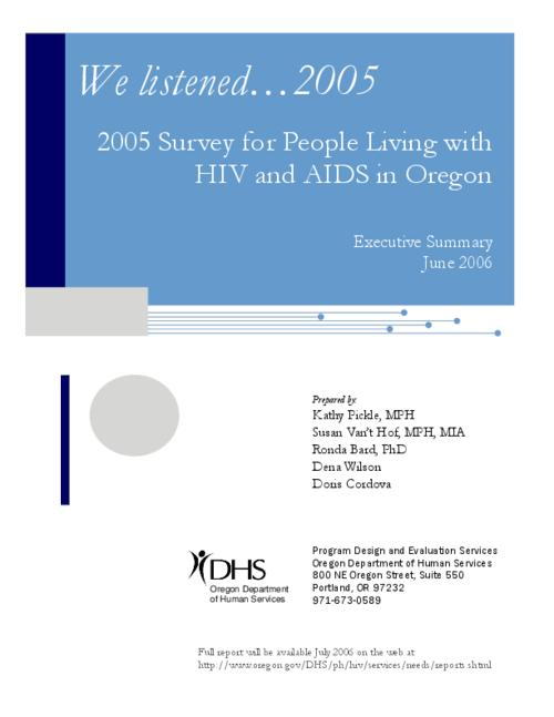 "This archived document is maintained by the Oregon State Library as part of the Oregon Documents Depository Program.  It is for informational purposes and may not be suitable for legal purposes., Title from PDF title page (viewed on Mar. 3, 2009), ""June 2006."", Mode of access: Internet from the Oregon Government Publications Collection."