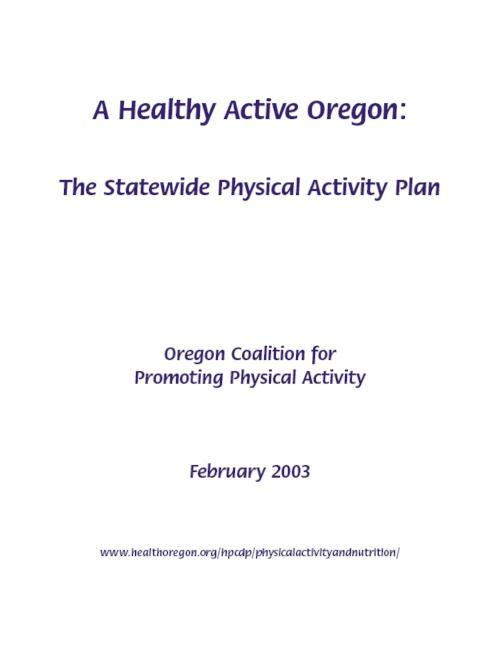 "This archived document is maintained by the Oregon State Library as part of the Oregon Documents Depository Program.  It is for informational purposes and may not be suitable for legal purposes., ""February 2003."", Funded and distributed by Health Promotion and Chronic Disease Prevention Program, OrDocs shipping list 2005-06, Includes bibliographical references (p. 36-37), Mode of access: Internet from the Oregon Government Publications Collection."