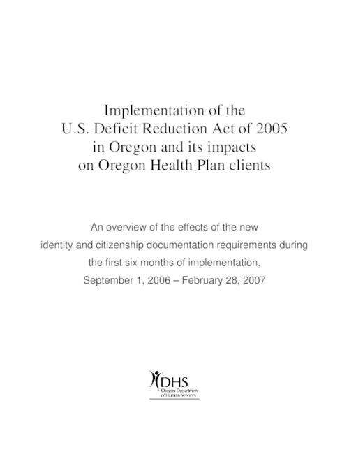 This archived document is maintained by the Oregon State Library as part of the Oregon Documents Depository Program.  It is for informational purposes and may not be suitable for legal purposes., Title from PDF title page (viewed on Dec. 29, 2008), Mode of access: Internet from the Oregon Government Publications Collection.