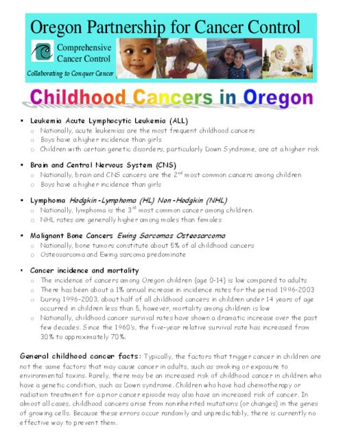 "This archived document is maintained by the Oregon State Library as part of the Oregon Documents Depository Program.  It is for informational purposes and may not be suitable for legal purposes., Title from PDF caption (viewed on Jan. 5, 2009), ""Comprehensive cancer control."", ""March 2007""--P. [2], Mode of access: Internet from the Oregon Government Publications Collection."