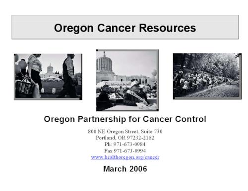 "This archived document is maintained by the Oregon State Library as part of the Oregon Documents Depository Program.  It is for informational purposes and may not be suitable for legal purposes., Title from PDF title page (viewed on Nov. 10, 2008), ""March 2006."", ""OPCC:Resources:Oregon 10/23/2006""--P. 1-22, Mode of access: Internet from the Oregon Government Publications Collection."