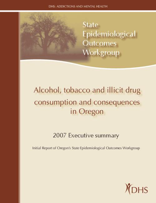 "This archived document is maintained by the Oregon State Library as part of the Oregon Documents Depository Program.  It is for informational purposes and may not be suitable for legal purposes., Title from PDF cover (viewed on Mar. 31, 2009), ""March 23, 2007""--P. 2, Project funded by Substance Abuse and Mental Health Services Administration's Center for Substance Abuse Prevention, Mode of access: Internet from the Oregon Government Publications Collection."