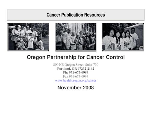 "This archived document is maintained by the Oregon State Library as part of the Oregon Documents Depository Program.  It is for informational purposes and may not be suitable for legal purposes., Title from PDF caption (viewed on Mar. 29, 2012), ""November 2008."", ""December 2008""--Running footer, Mode of access: Internet from the Oregon Government Publications Collection."