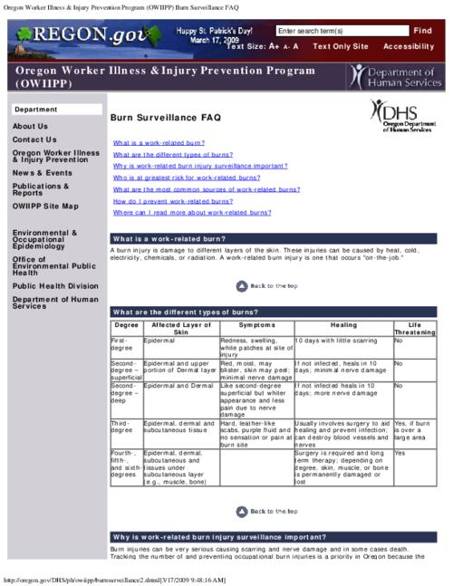 "This archived document is maintained by the Oregon State Library as part of the Oregon Documents Depository Program.  It is for informational purposes and may not be suitable for legal purposes., Title from PDF caption (viewed on May 30, 2014), Converted from HTML, ""Page updated: July 29, 2008""--Page 2, Mode of access: Internet from the Oregon Government Publications Collection., Text in English"