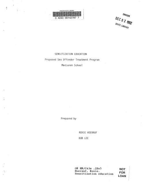 This archived document is maintained by the Oregon State Library as part of the Oregon Documents Depository Program.  It is for informational purposes and may not be suitable for legal purposes., Title from cover, Includes bibliographical references, Mode of access: Internet from the Oregon Government Publications Collection.