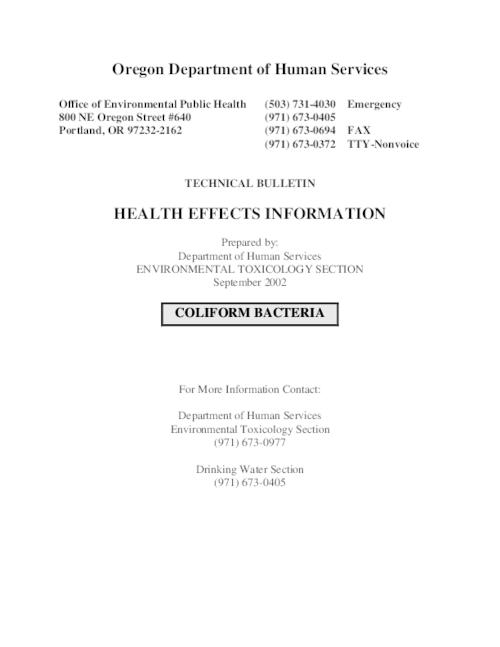 This archived document is maintained by the Oregon State Library as part of the Oregon Documents Depository Program.  It is for informational purposes and may not be suitable for legal purposes., Title from PDF title page (viewed on September 16, 2015)., Mode of access: Internet from the Oregon Government Publications Collection., Text in English.