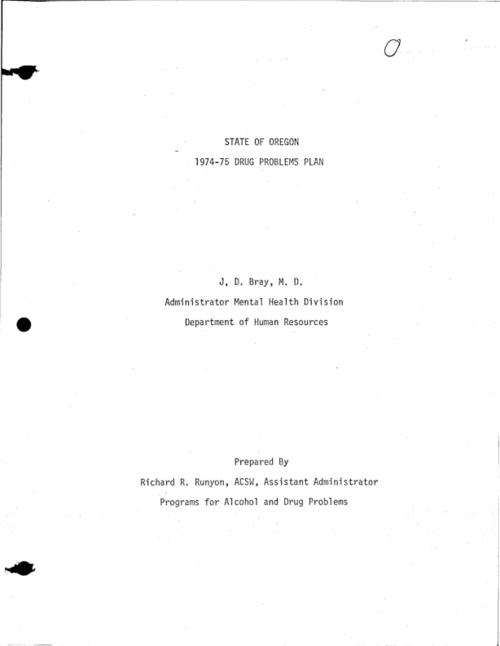 This archived document is maintained by the Oregon State Library as part of the Oregon Documents Depository Program.  It is for informational purposes and may not be suitable for legal purposes., Title from cover., Includes bibliographic references., Mode of access: Internet from the Oregon Government Publications Collection.