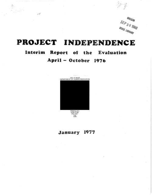 This archived document is maintained by the Oregon State Library as part of the Oregon Documents Depository Program.  It is for informational purposes and may not be suitable for legal purposes., Title from cover., Includes bibliographic references., Mode of access: Internet from the Oregon Government Publications Collection., Text in English.