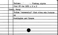 Indians. Fishing Rights. 1971 - Indians. Fishing Rights. 1986