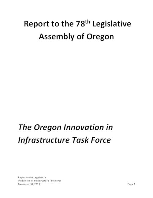 This archived document is maintained by the Oregon State Library as part of the Oregon Documents Depository Program.  It is for informational purposes and may not be suitable for legal purposes., Title from PDF cover (viewed on January 13, 2014), Includes bibliographical references (pages 48-49), Mode of access: Internet from the Oregon Government Publications Collection.