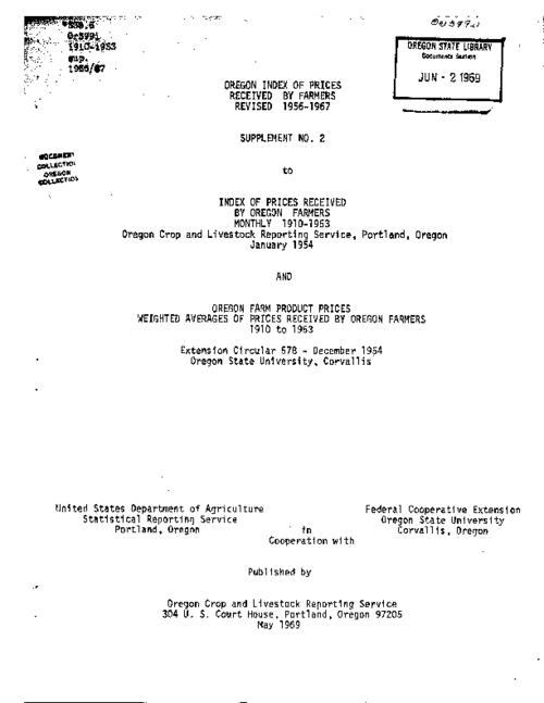 "This archived document is maintained by the Oregon State Library as part of the Oregon Documents Depository Program.  It is for informational purposes and may not be suitable for legal purposes., Title from cover, ""May 1969."", Mode of access: Internet from the Oregon Government Publications Collection."